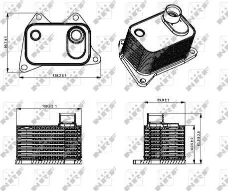NRF 31358 - Eļļas radiators, Motoreļļa www.avaruosad.ee
